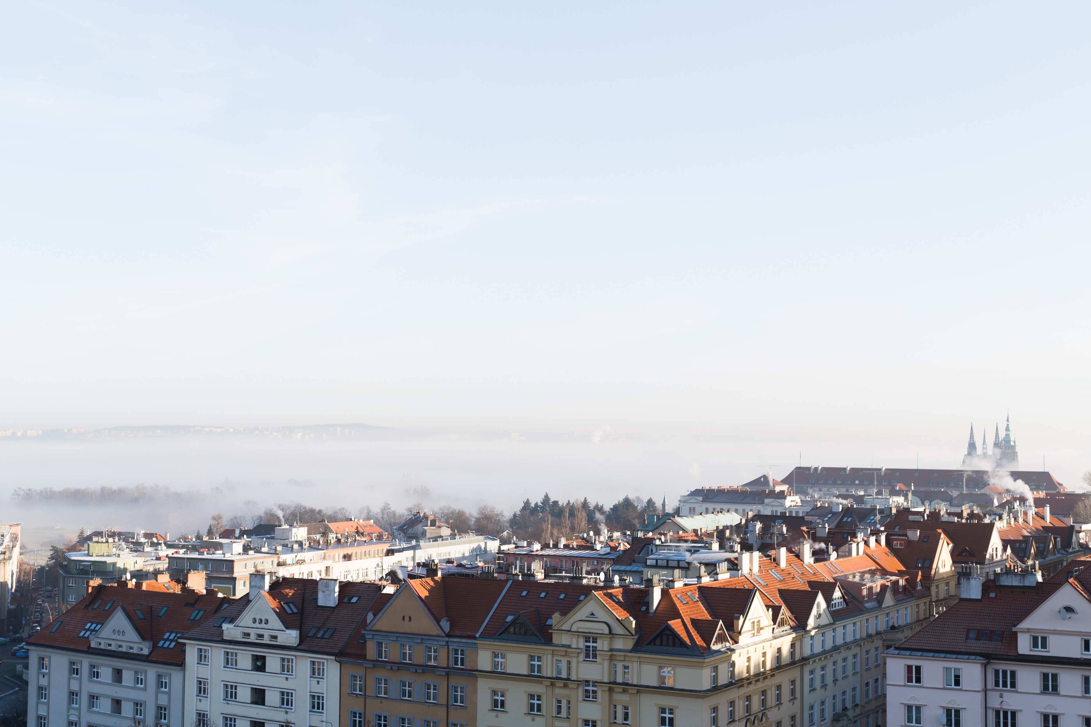 Prague uitzicht vanuit hotel