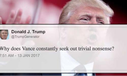 Omdat we er geen genoeg van kunnen krijgen: De beledigingen-generator van Donald Trump