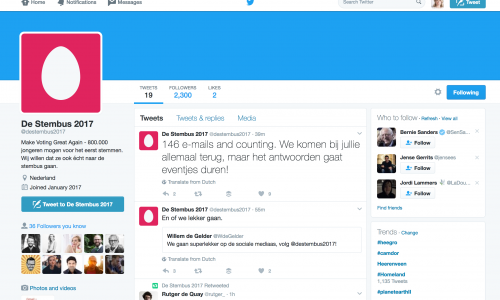 Make voting great again: De Stembus 2017 is een regelrechte Twitter hit