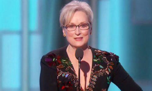 Meryl Streep brengt een hoopvolle maar vernietigende speech over Trump