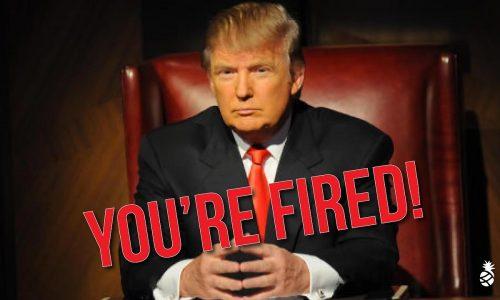 Het wordt steeds enger: Trump ontslaat nu officials die het niet met hem eens zijn