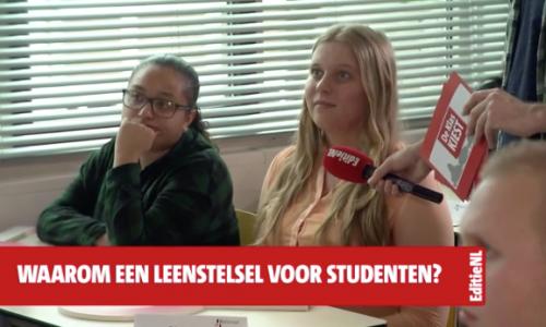 De Klas Kiest met Jesse Klaver (GroenLinks) stelt studenten gerust: 'Ook ik vind lenen doodeng'