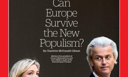 Geert Wilders op de cover van Amerikaanse Time Magazine