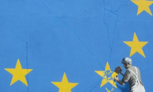 Banksy zorgt voor ophef in Engeland met nieuwe muurschildering