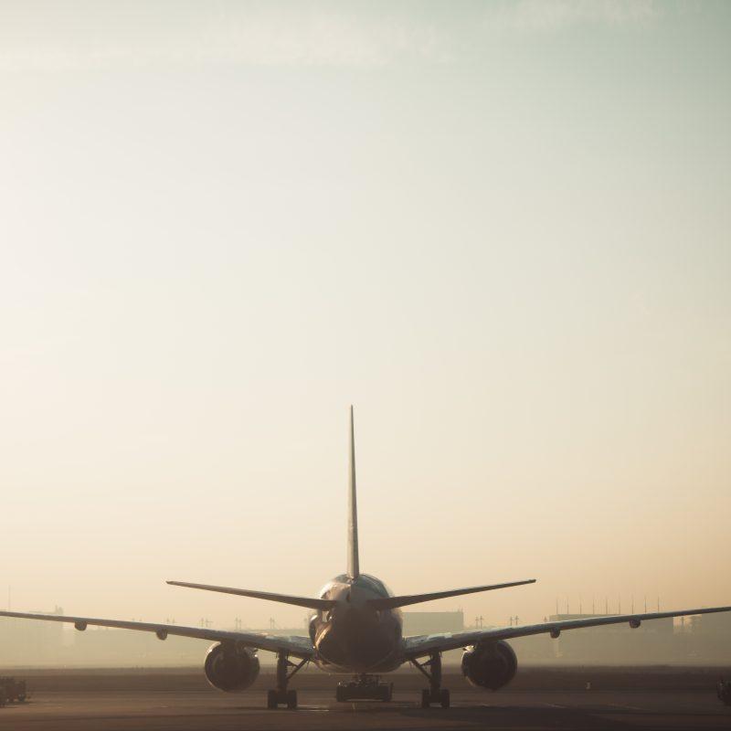 vliegtuig koffie