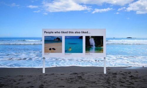 Deze kunst dwingt ons te kijken naar online aanbevelingen in de echte wereld