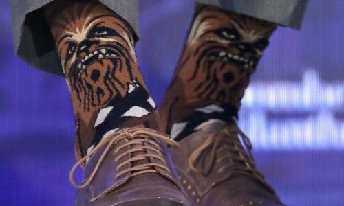 Justin Trudeau draagt Chewbacca sokken naar Algemene Vergadering en het internet ligt dubbel