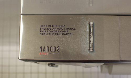 Netflix' geheimzinnige Narcos reclames verschijnen in Amerikaanse nachtclubs