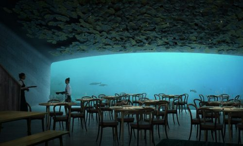 Je kunt binnenkort onder water dineren in dit Noorse restaurant