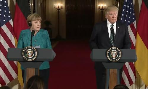 Om nog even van te genieten: de leukste memes van Merkel versus Trump