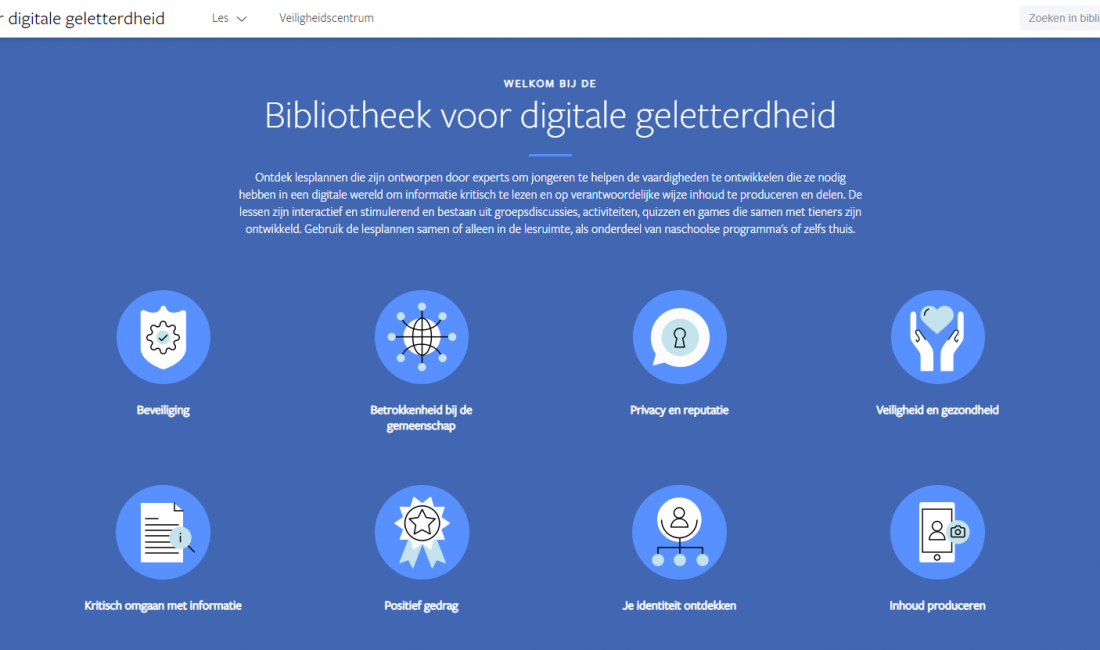 Facebook digitale geletterdheid